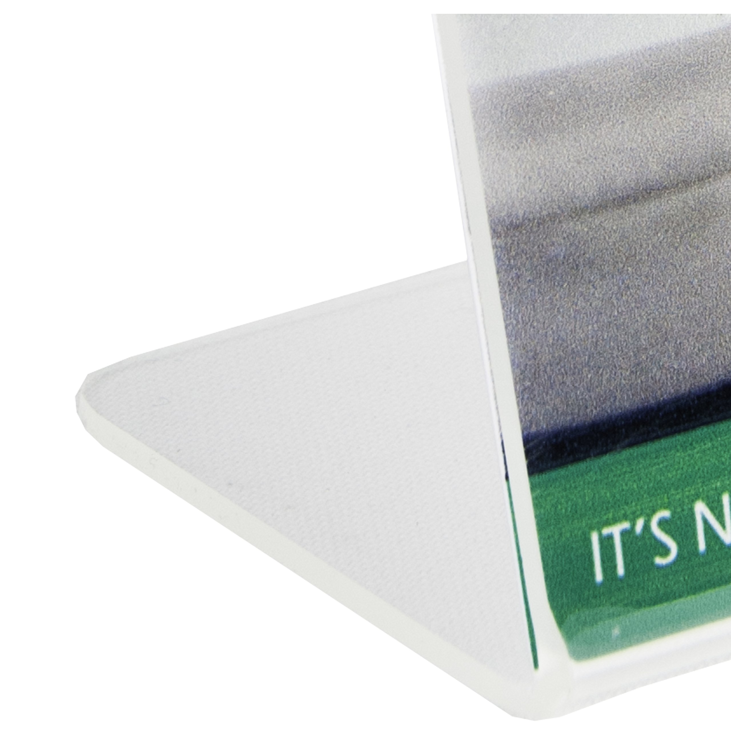 Clear-Ad - LHA-46 - Acrylic Slanted Sign Holder 4x6 - Plexiglass Table Menu Card Display Stand - Plastic Picture Frame Wholesale (Pack of 100) by Clear-Ad (Image #6)
