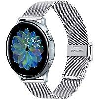 TRUMiRR Compatible avec Samsung Galaxy Watch Active2/Active Bande de Montre, 20mm Bracelet Montre en Acier Inoxydable tissé pour Samsung Galaxy Watch Active/Galaxy Watch Active2/Gear S2 Classic