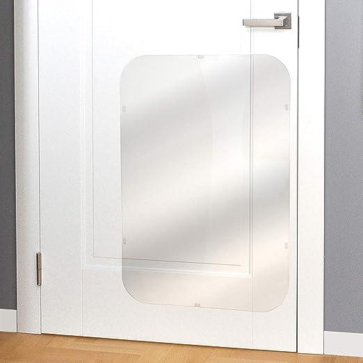 PETFECT Protector contra Arañazos para Puertas Premium 90 x 60 cm; Cubierta de Puertas para Perros para Uso Interior y Exterior - Transparente: Amazon.es: Productos para mascotas