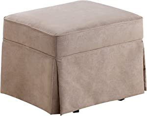 Baby Relax Swivel Glider and Ottoman Set, Hickory Brown Microfiber Hickory Brown