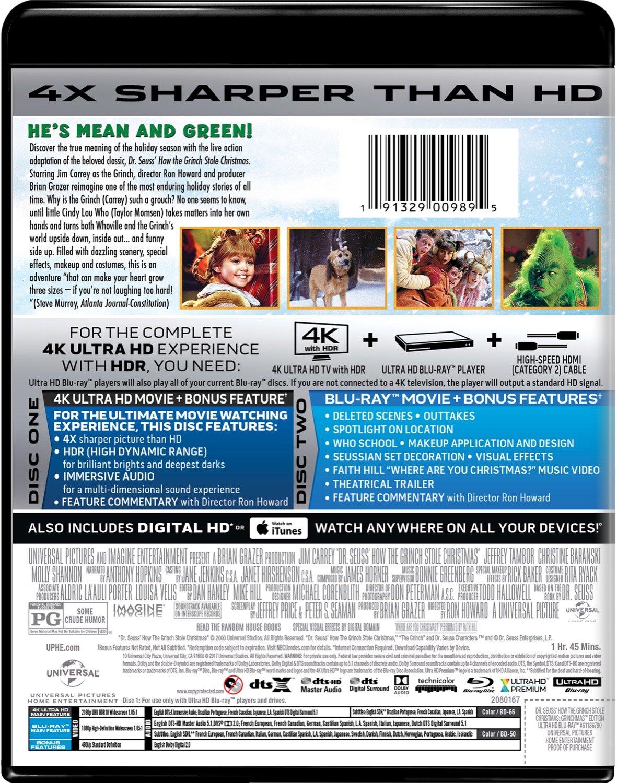 Amazon.com: Dr. Seuss' How The Grinch Stole Christmas [Blu-ray ...