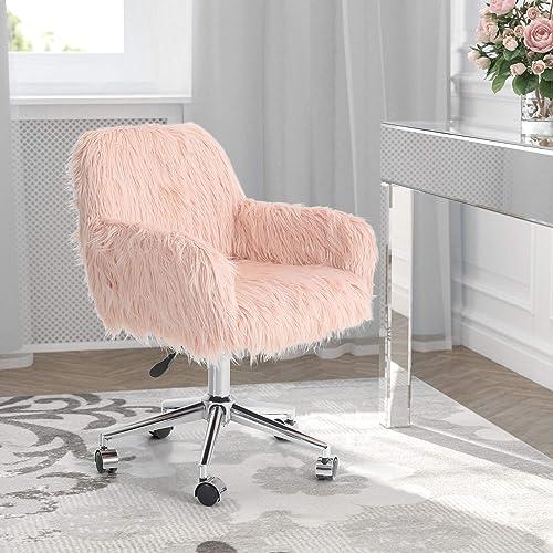 MAISON ARTS Faux Fur Vanity Chair