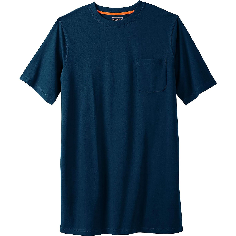 Boulder Creek Mens Big /& Tall Heavyweight Longer-Length Pocket Crewneck T-Shirt