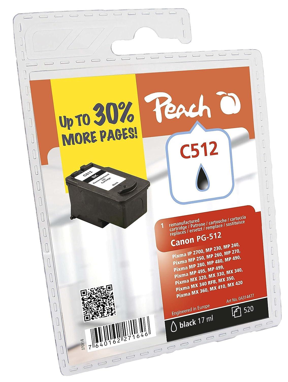 Peach PC512 - Cartucho de tinta remanufacturado estándar, color ...
