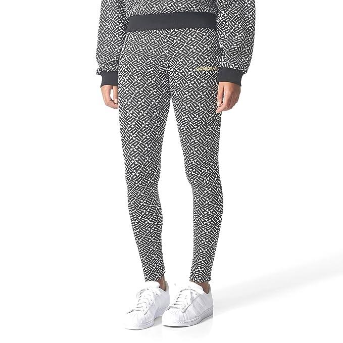 1f01f3c4b02 adidas Allover Print Leggings Leggings Black-White XS: Amazon.co.uk:  Clothing
