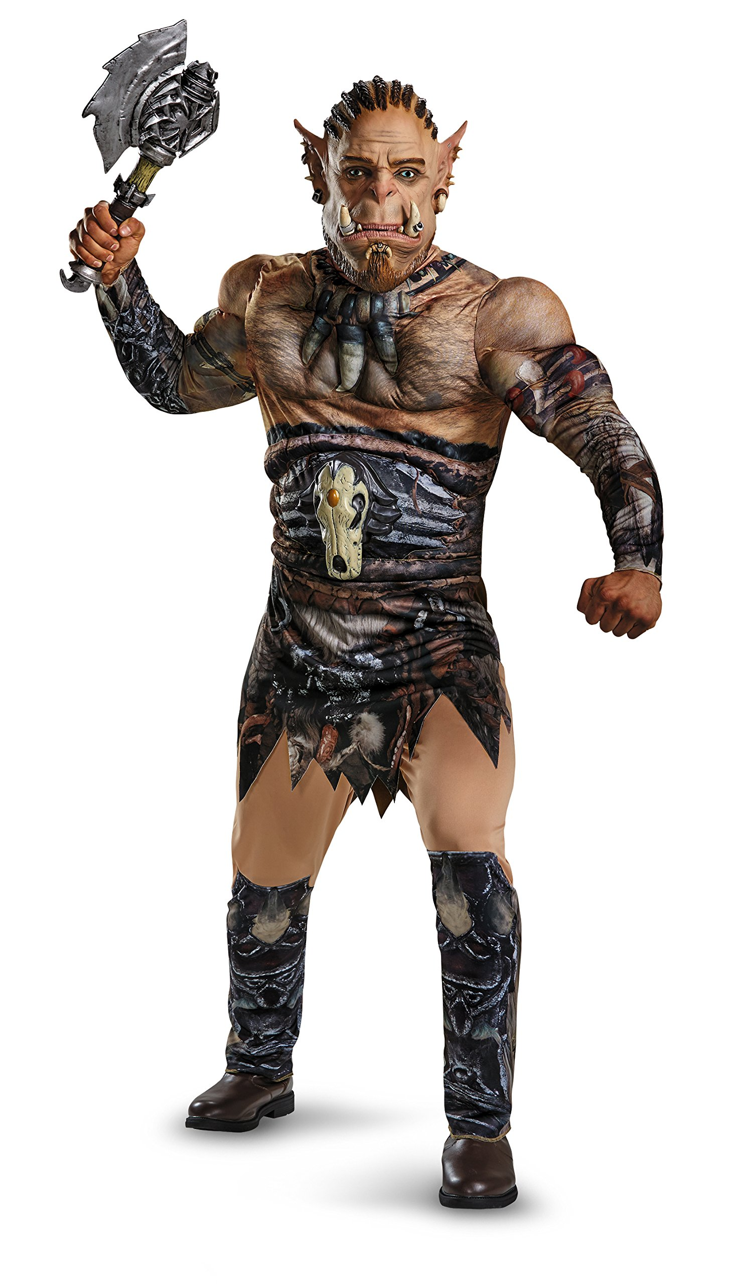 Disguise Men's Warcraft Durotan Muscle Adult Costume with War Axe