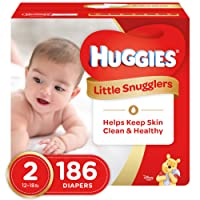 HUGGIES LITTLE SNUGGLERS, Baby Diapers, Size 2, 186ct