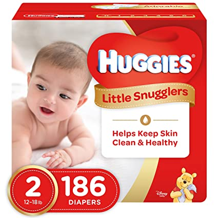 Huggies Little Snugglers pañales tamaño 2 pack de 186 importados