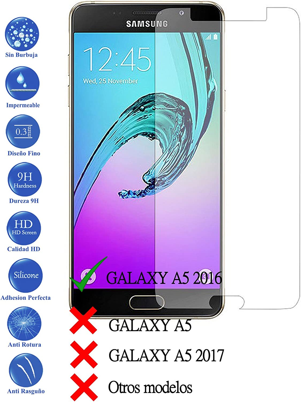 Todotumovil Protector de Pantalla Samsung Galaxy A5 2016 A510F de Cristal Templado Vidrio 9H para movil: Amazon.es: Electrónica