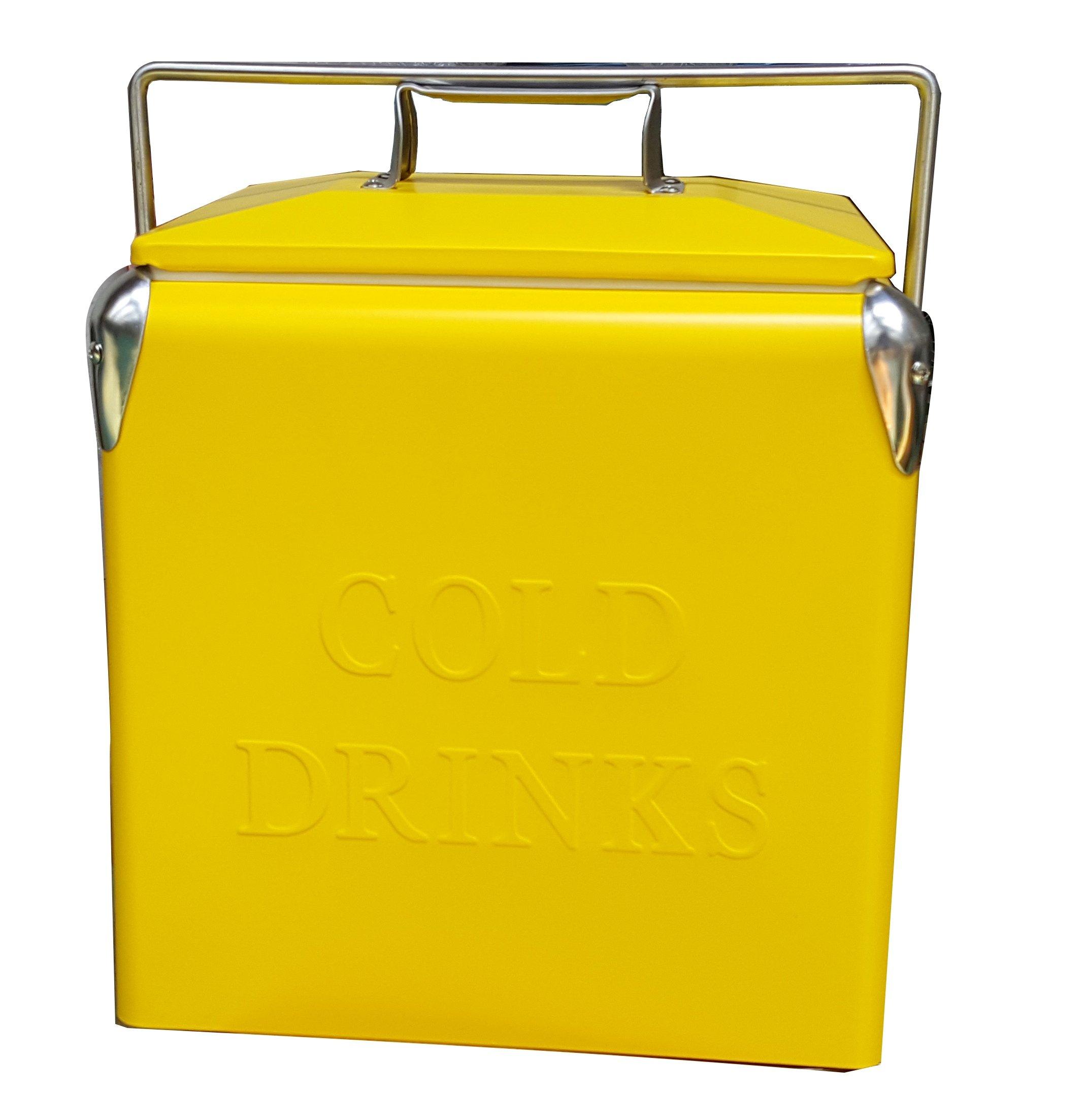 Permasteel PS-205-14Qt Yellow Portable Picnic Cooler