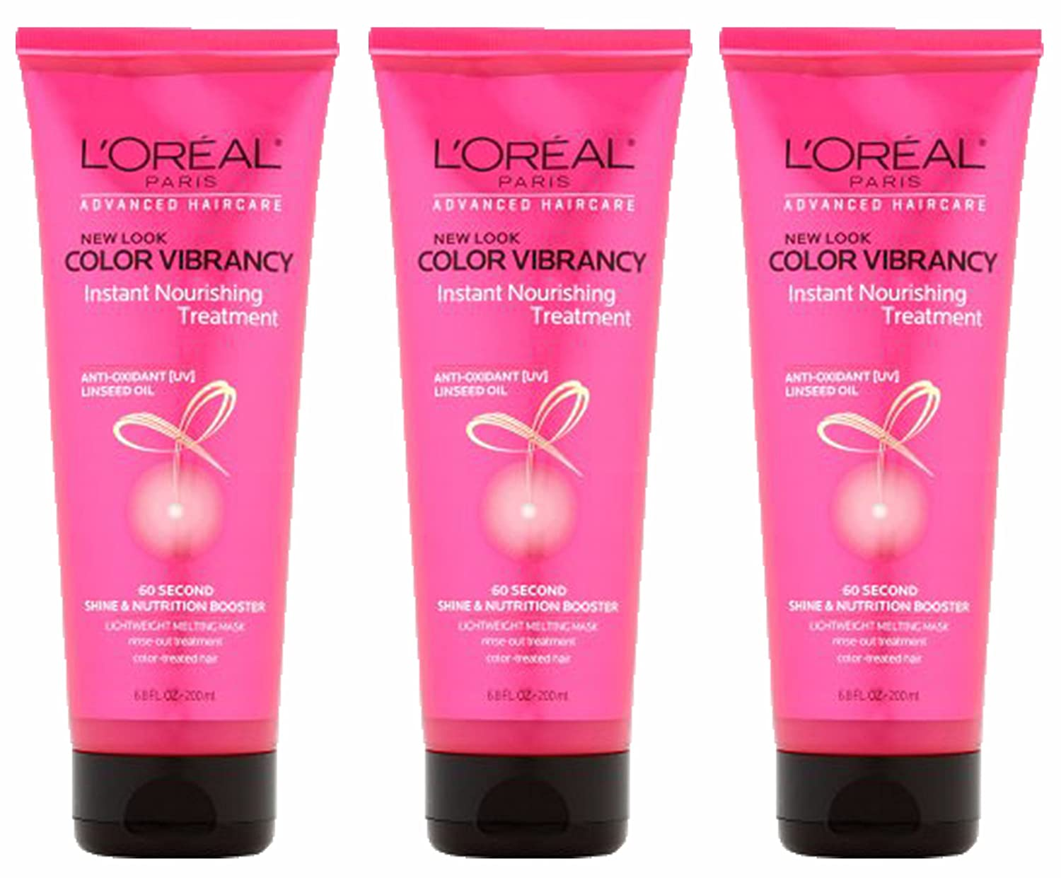 L'Oreal Paris Advanced Haircare Color Vibrancy Instant Shock Treatment 6.8 Ounce, (Pack of 3)