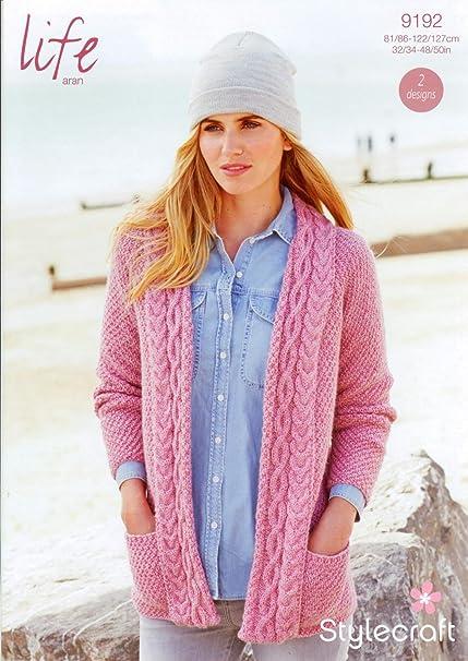 Stylecraft 9192 Knitting Pattern Ladies Cardigans In Stylecraft Life