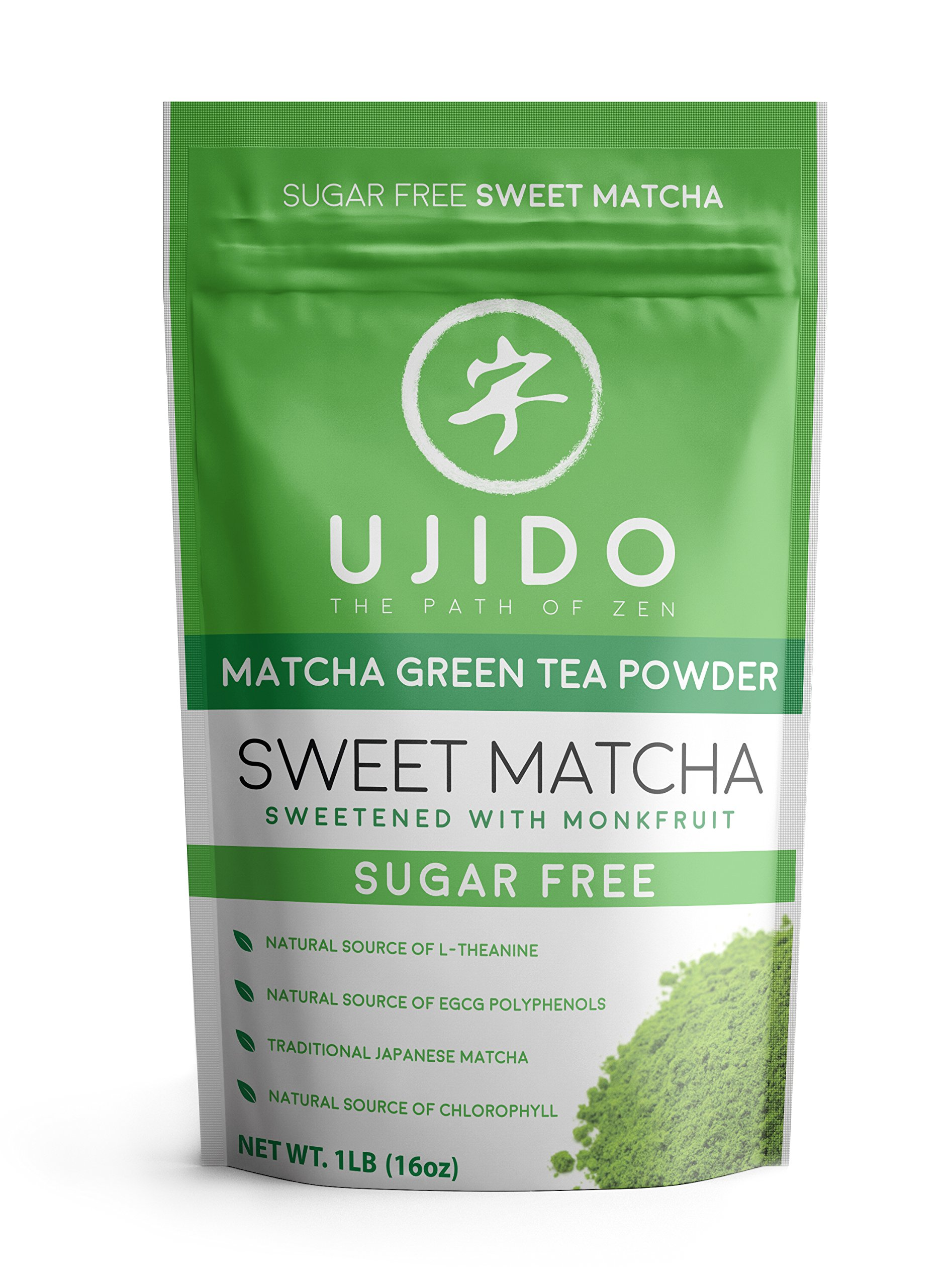 Ujido Japanese Monk Fruit Sweet Matcha (16 Ounce (467g))