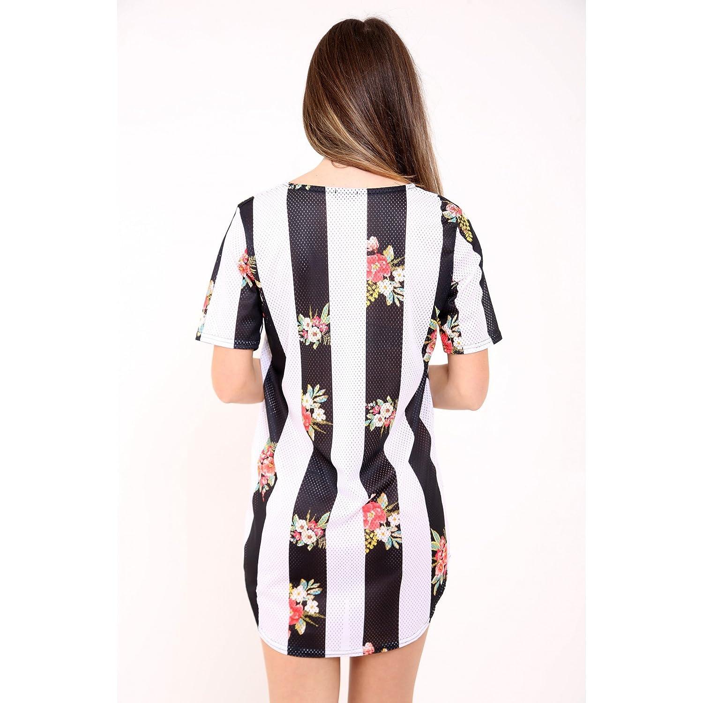 bcec817bb26 Ladies 23 Print Sublimation Airtex Longline T Shirt Dress US Size 6-12 at  Amazon Women s Clothing store