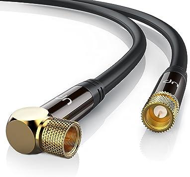 20m cable de antena SAT - En ángulo 90 grado: Amazon.es: Electrónica