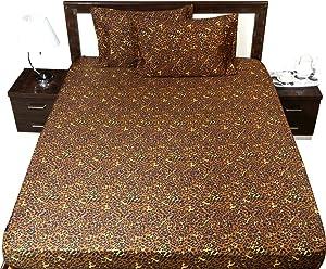 Ras Décor Linen 600-Thread-Count 100% Cotton Bed Sheets Leopard Print King Sheet Set, 4-Piece Long-Staple Combed Cotton, Breathable, Soft & Sateen Weave Fits Mattress Upto 15'' Deep Pocket