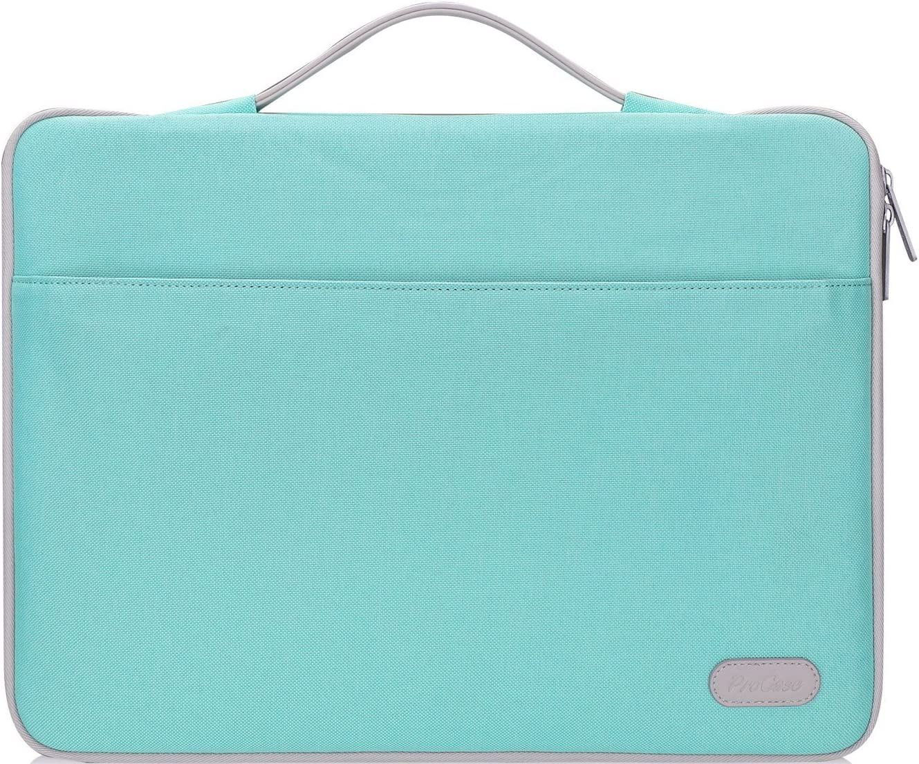 "ProCase 14-15.6 Inch Laptop Sleeve Case Protective Bag, Ultrabook Notebook Carrying Case Handbag for MacBook Pro 16""/14"" 15"" 15.6"" Dell Lenovo HP Asus Acer Samsung Sony Chromebook Computer -Mint Green"