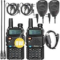 $79 » Ham Radio UV-5R Pro 8Watt Dual Band Two Way Radio with Ham Radio Handheld Mic and NA-771…