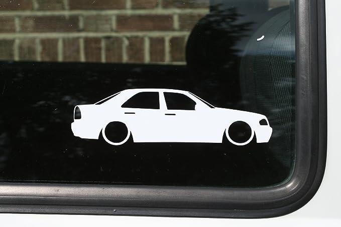 Abgesenkt Auto Silhouette Aufkleber Für Mercedes C Klasse W202 Auto