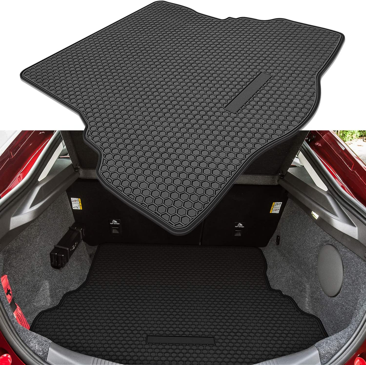 Bonbo Trunk Cargo Liner Mat for Ford Fusion 2013-2020 Custom Fit Odorless Premium Environmentally Friendly Rubber Heavy Duty All Weather Guard