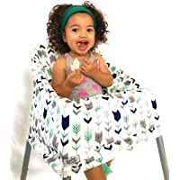 Multi-Use Nursing Cover and Infinity Scarf | Stretchy, Cotton Breastfeeding Covers & Scarves | Car Seat Cover & Canopy | Cart and Highchair Covering | Kaa Arrows Baby Car Seat & Shopping Cart Cover