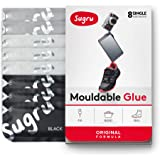 Sugru Moldable Glue - Original Formula - All-Purpose Adhesive, Advanced Silicone Technology - Holds up to 4.4 lb - Black, White & Gray 8-Count