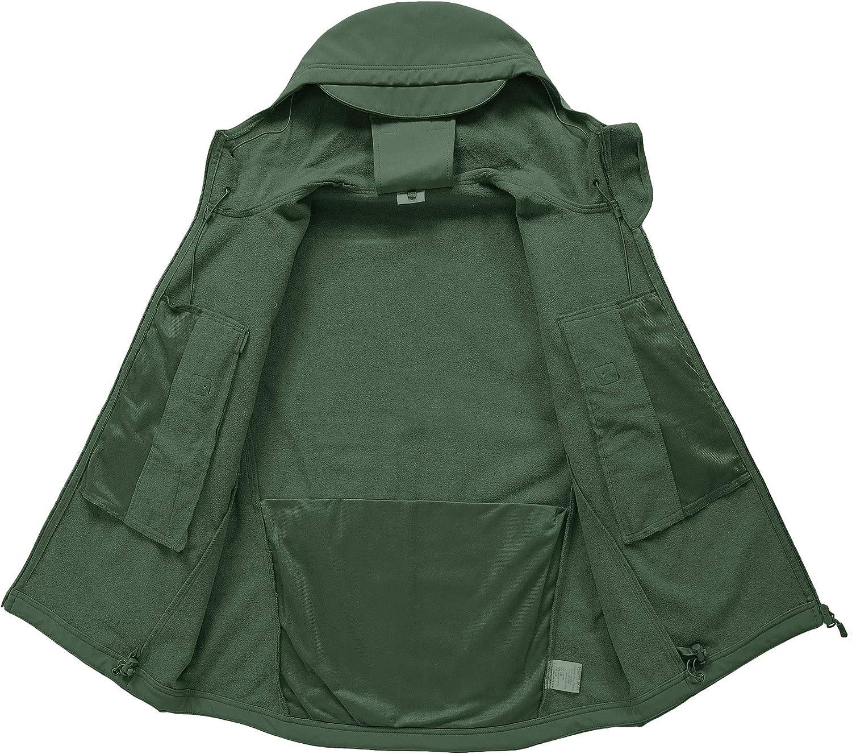 CASIVENT Herren Tactical Army Outdoor Mantel Camouflage Softshell Jacke Jagd Jacke