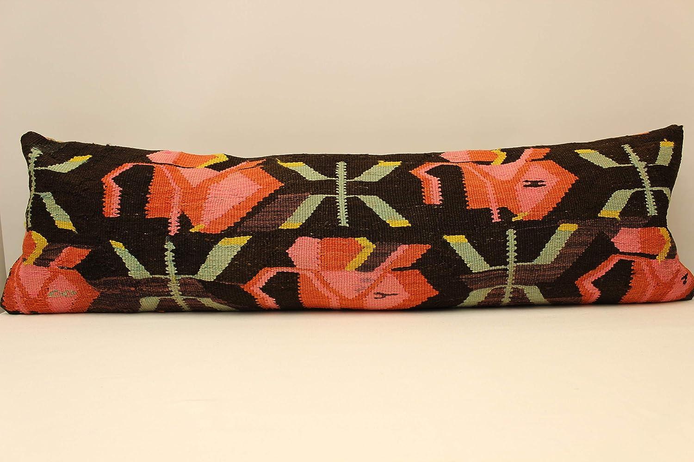 Turkish Kilim Bedding lumbar decorative pillow cover Long Cushion Bolster 4oyf-811 King size pillow cover 12x47 inch 30x120 cm