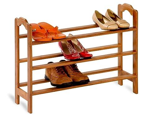 Honey Can Do SHO 01601 3 Tier Bamboo Shoe Rack