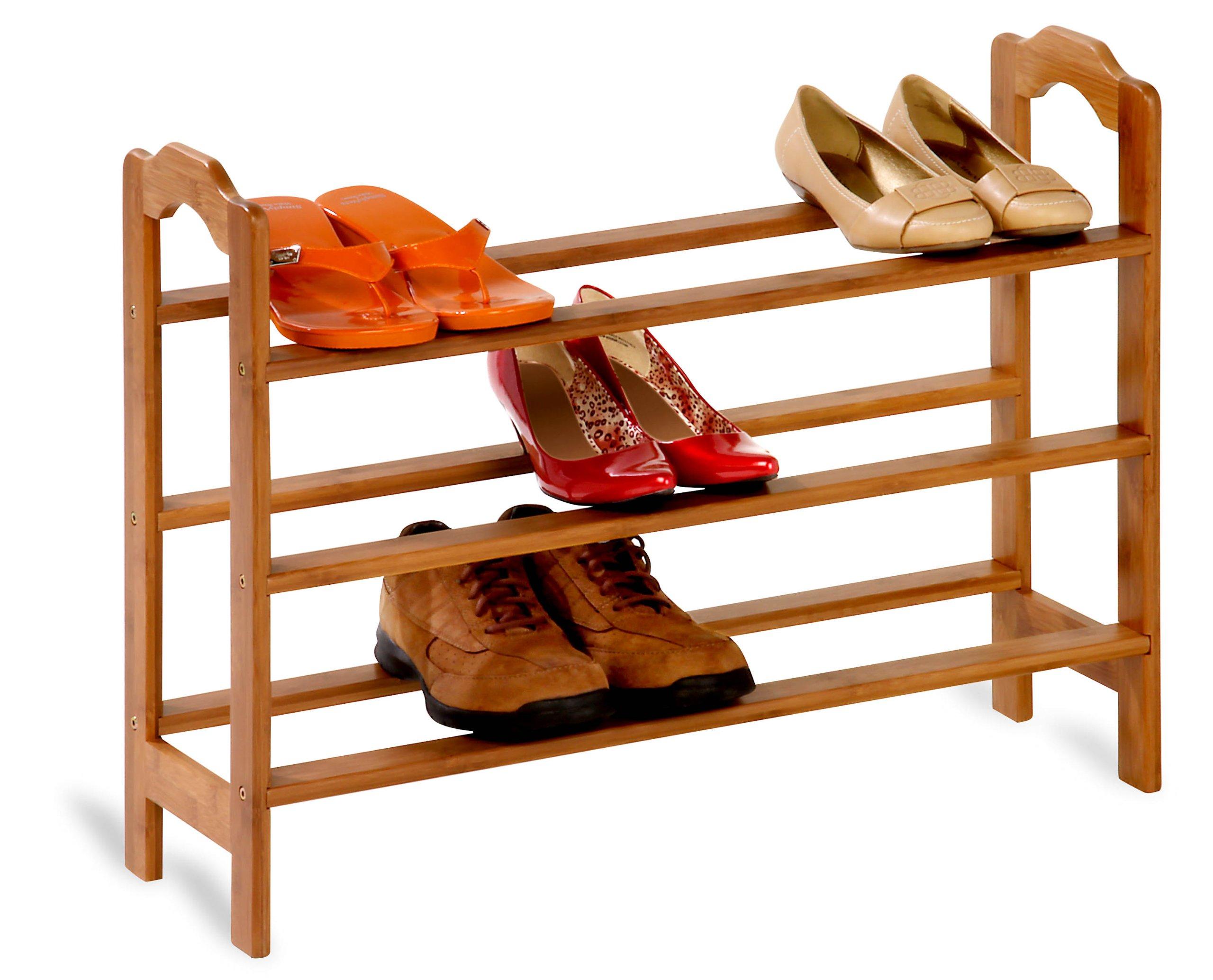 Honey-Can-Do SHO-01601 3-Tier Bamboo Shoe Rack