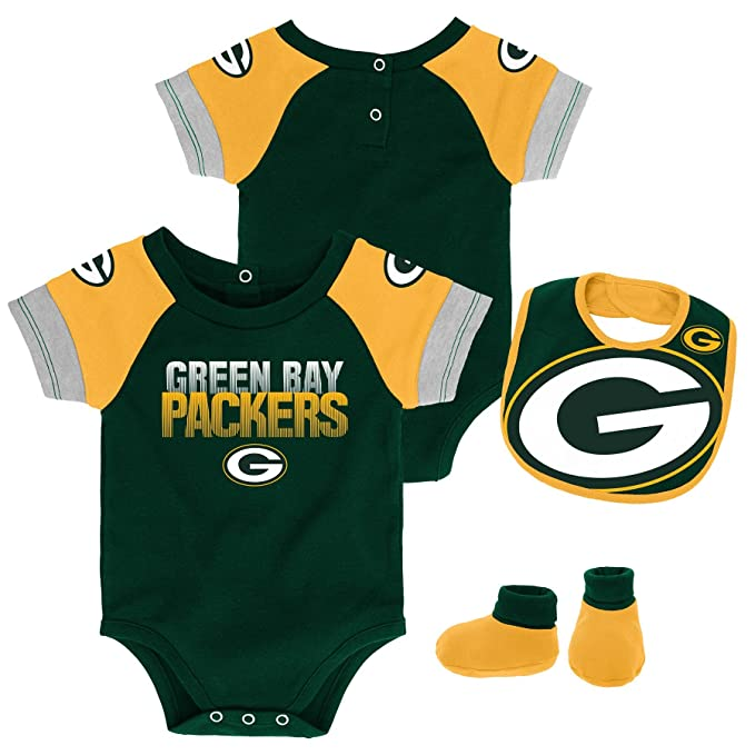 Fan Apparel & Souvenirs Nice Outerstuff Nfl Infant Girls Chicago Bears Assorted 3 Pack Creeper Set Available In Various Designs And Specifications For Your Selection