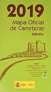 Mapa Carreteras España 2018.Mapa Oficial Carreteras Espana 2018 Inc Dvd 53ª Ed Amazon