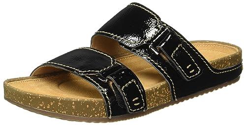 e0f017cc3442 Clarks Women s Rosilla Tilton Black Leather Flip-Flops Other - House  Slippers - 3 UK