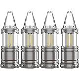 4 Pack COB Camping Lantern, Portable High Lumen Outdoor Camping Flashlight Torch Light, Bright Survival Equipment Gear…