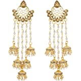 The Luxor Stunning Gold Plated Jhumki Earrings for Women(ER-1656)