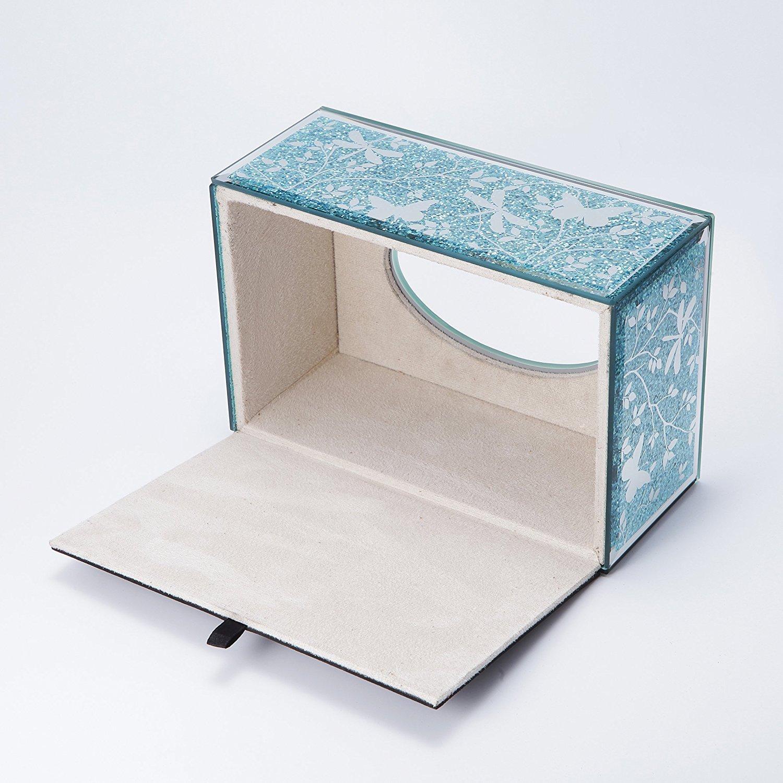 Amazoncom Wonderful Mirrored Glass Tissue Holder Rectangle Decorative Napkin Box