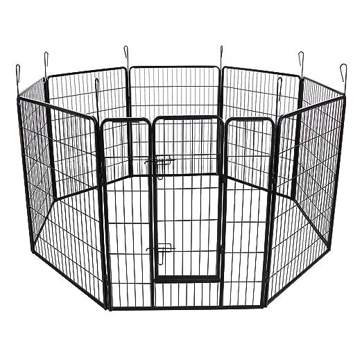 21 opinioni per Songmics Recinzione Recinto per Cani Conigli Animali di Ferro 100 x 80 cm nero