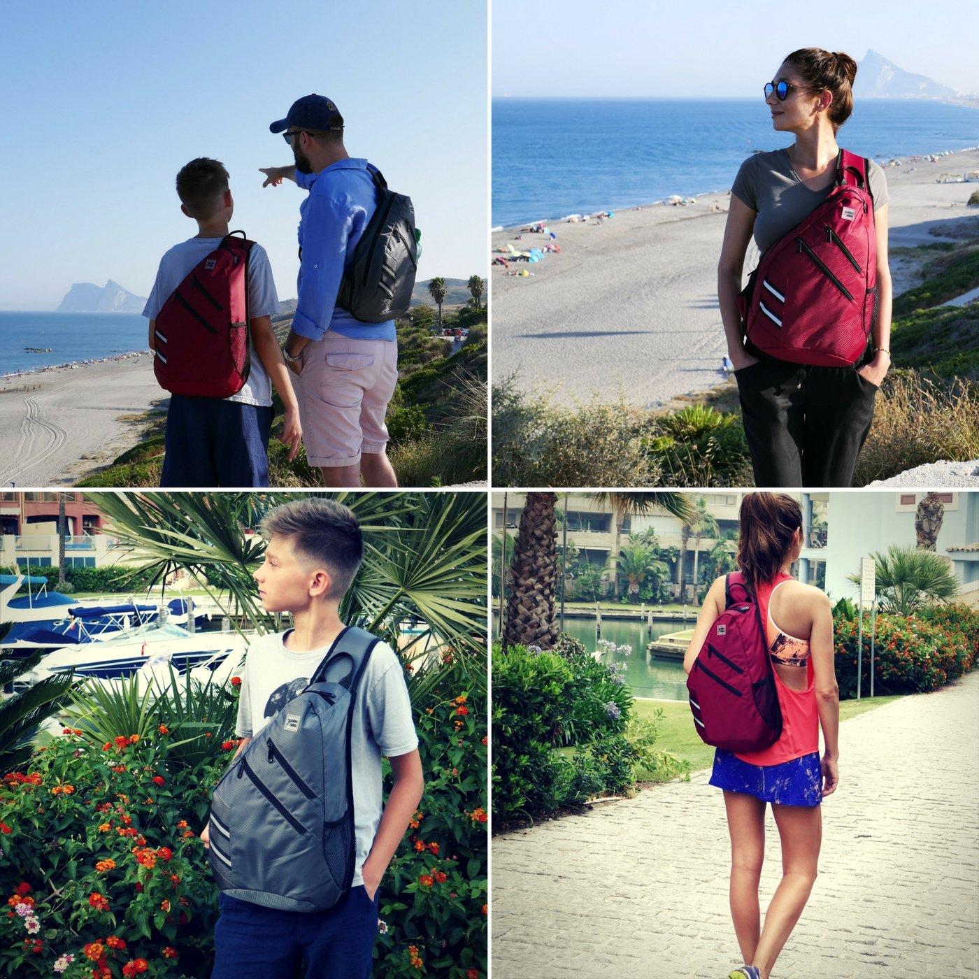7Senses Sling Bag Crossbody Backpack Shoulder Bag - Travel Backpack Multipurpose Daypack for Men & Women