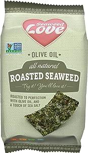 Seaweed Love Olive Oil Roasted Seaweed, 0.18 Oz (Pack Of 24)