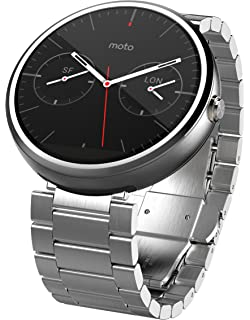 Amazon.com: Motorola Moto 360 - Black Leather Smart Watch
