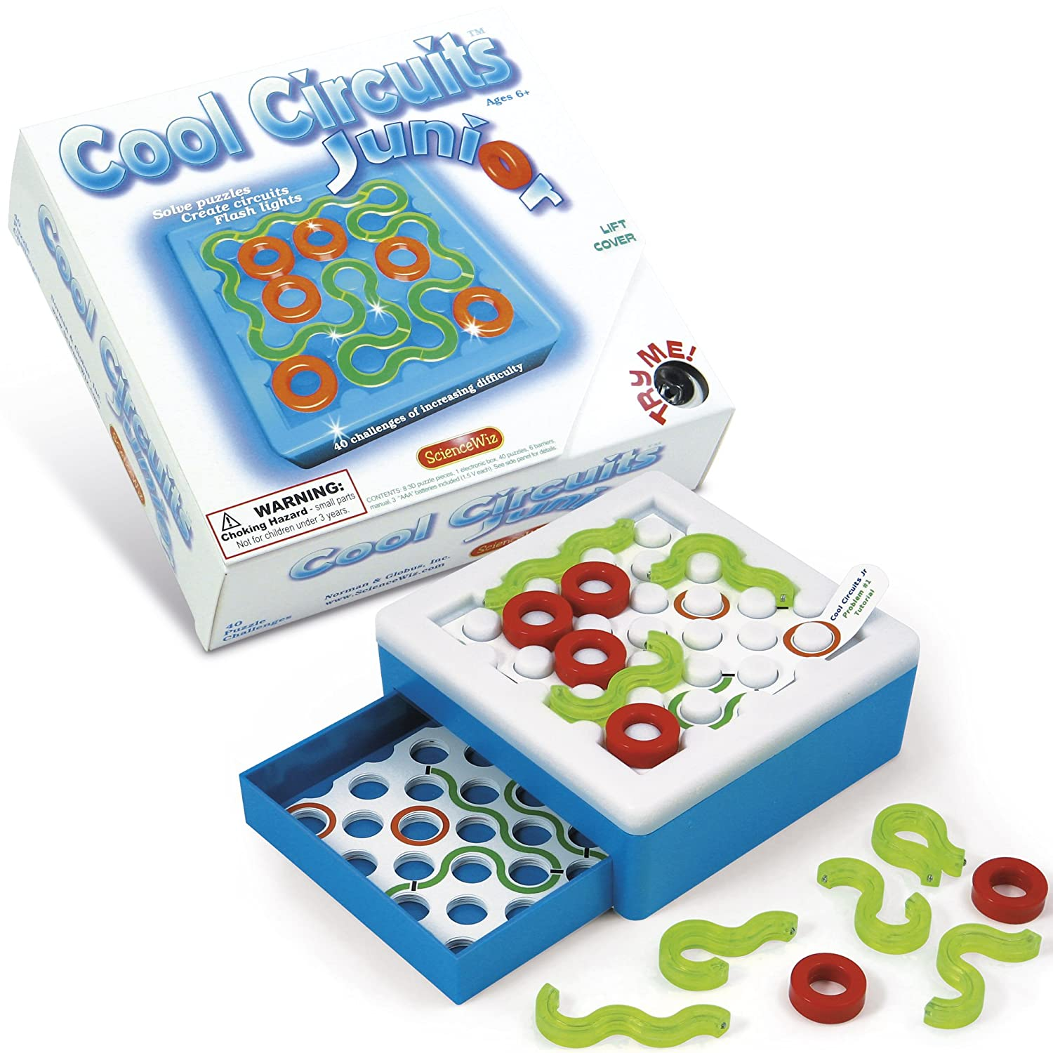 Science Wiz Cool Circuits Kits Maze Sequential Puzzles Basic Electronics Toys For Kids Snap Jr Sc 100 Junior Puzzle