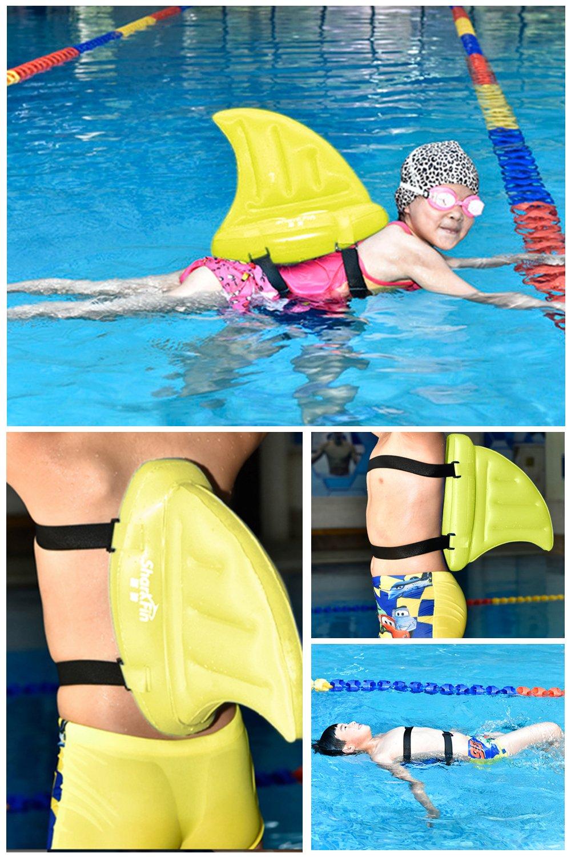 Zmoon Flotadores de Aletas de Tiburón- Aleta de Tiburón de Nadar Ayuda para la Piscinaa Gruesa Equipo de Entrenamiento de PVC para Principiante de Fin ...