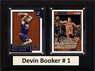 "product image for C&I Collectables MLS Phoenix Suns Men's Devin Booker Two Card Plaque, 6"" x 8"", Brown"