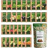 32 Heirloom Vegetable Seeds for Planting - Over 15,000 Survival Garden Seeds - Essential Emergency Prepper Gear - Non-GMO Veg