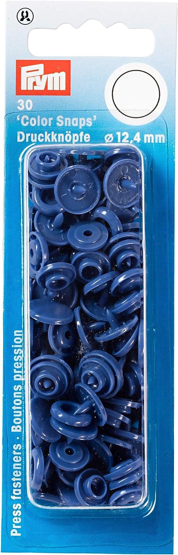 12.4 mm Prym 393138 N/ähfrei Druckknopf Color Snaps rund 12,4 mm rot Kunststoff