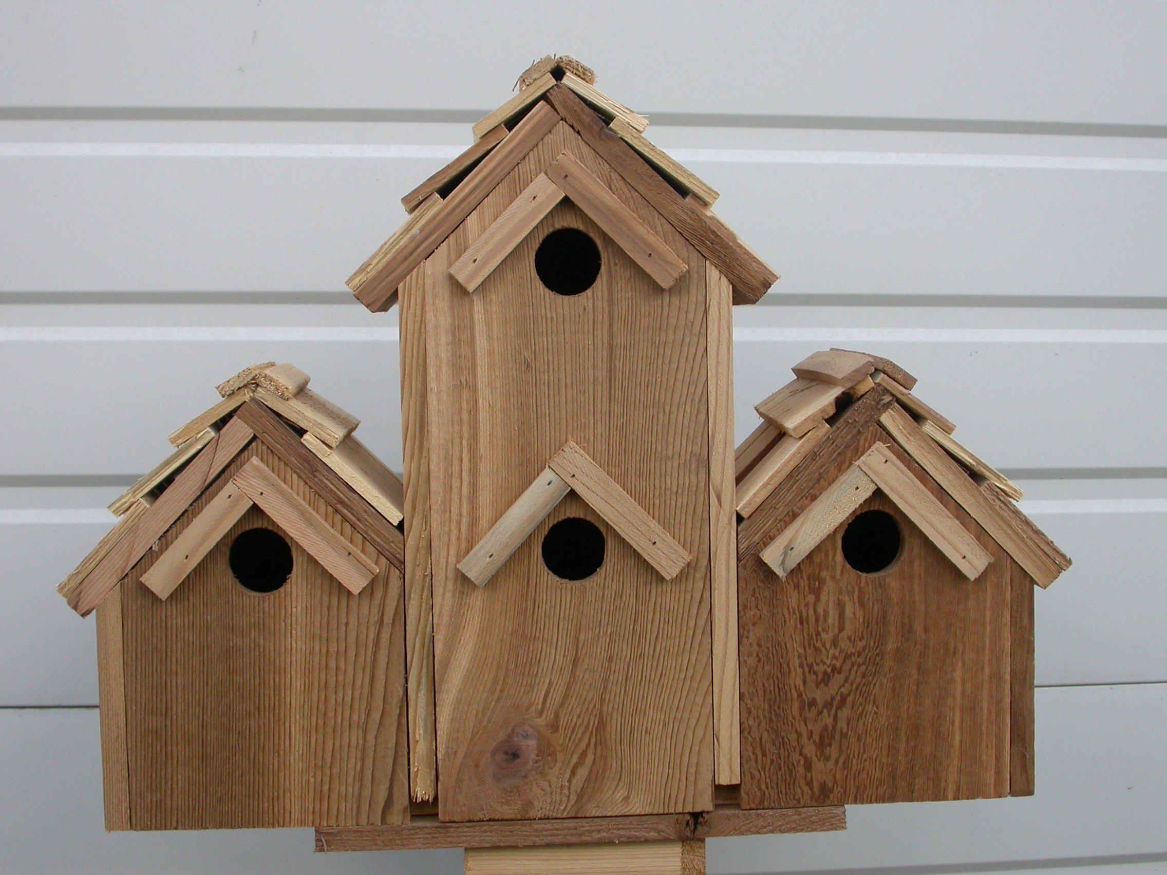Cedarnest Cedar Birdhouse with 4 Seperate Compartments