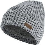 Vmevo 羊毛翻边平纹无檐小便帽保暖冬季针织帽中性款手表帽骷髅帽