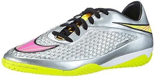 Nike Hypervenom Phelon Premium - Zapatillas de Fútbol para Hombre, Color Plateado (Chrome/Hyper Pink-mtlc gld CN 069), Talla 45.5