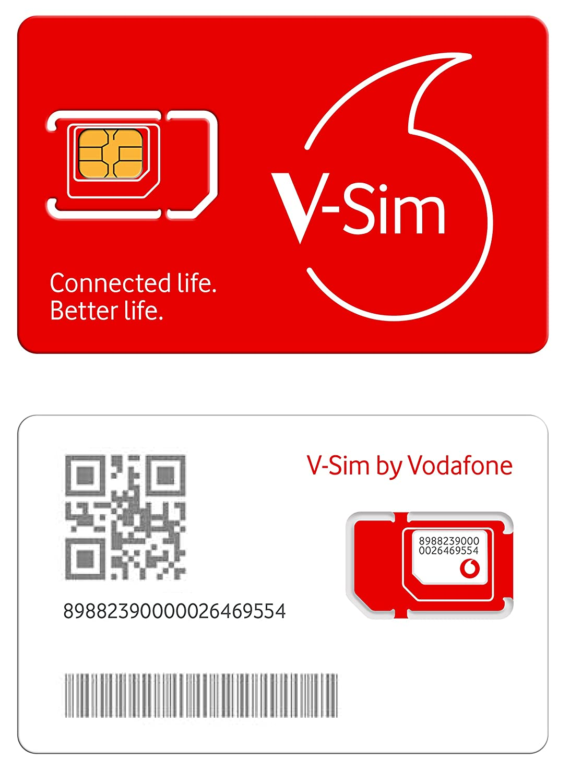 Vodafone v-sim, una Tarjeta sim Inteligente, Funciona para Dispositivos conectados por GPS (trakers GPS, cámaras de Seguridad, trakers para ...