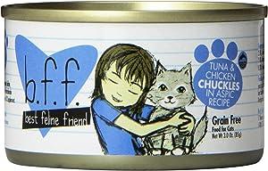 B.F.F. - Best Feline Friend, Tuna & Chicken Chuckles With Tuna & Chicken In Aspic Cat Food By Weruva, 3Oz Can (Pack Of 24)